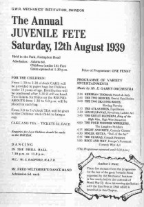 Juvenile Fete - Last before WW2