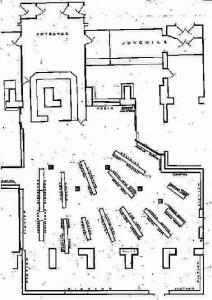 The Post 1930 arrangement of the bookshelves